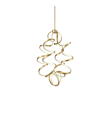 Kuzco Lighting CH93934-AN Synergy 24 inch Antique Brass Chandelier Ceiling Light photo thumbnail