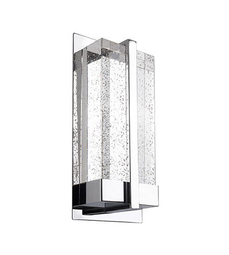 Kuzco Lighting WS2812-CH Gable LED 6 inch Chrome Wall Sconce Wall Light photo thumbnail