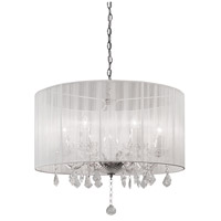 Kuzco Lighting 38256W Signature 5 Light 24 inch Chrome Chandelier Ceiling Light