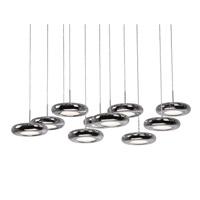 Kuzco Lighting 402210CH-LED Signature LED 9 inch Chrome Pendant Ceiling Light