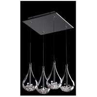 Signature 4 Light 13 inch Chrome Pendant Ceiling Light