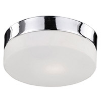 Kuzco Lighting 52022SCH Signature 2 Light 9 inch Chrome Flush Mount Ceiling Light