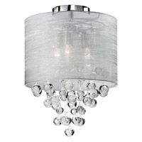 Signature 2 Light 12 inch Chrome Semi Flush Mount Ceiling Light