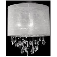 Kuzco Lighting 52152C Signature 2 Light 12 inch Chrome Semi Flush Mount Ceiling Light