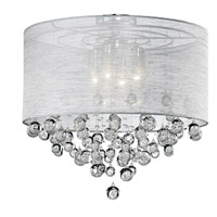 Kuzco Lighting 52154 Signature 4 Light 21 inch Chrome Semi Flush Mount Ceiling Light