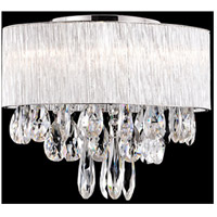 Kuzco Lighting 544006 Signature 6 Light 16 inch Chrome Semi Flush Mount Ceiling Light