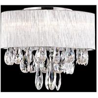 Kuzco Lighting 544006 Signature 6 Light 16 inch Chrome Semi Flush Mount Ceiling Light