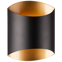 Preston LED 8 inch Black Wall Sconce Wall Light