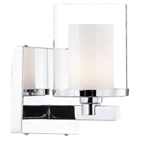 Kuzco Lighting 701201 Signature 1 Light 5 inch Chrome Vanity Light Wall Light
