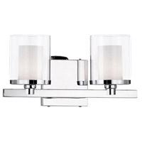 Kuzco Lighting 701202 Signature 2 Light 13 inch Chrome Vanity Light Wall Light