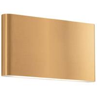 Kuzco Lighting AT6510-GD Slate LED 10 inch Gold Sconce Wall Light, All-Terior