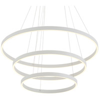 Kuzco Lighting CH86332-WH Cerchio 32 inch White Chandelier Ceiling Light