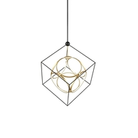 Kuzco Lighting CH19234-BK/AN Monza 39 inch Antique Brass Chandelier Ceiling Light