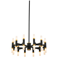 Kuzco Lighting CH19722-BK Draven 22 inch Black Chandelier Ceiling Light
