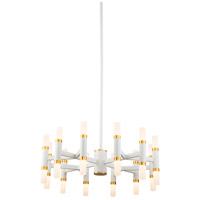 Kuzco Lighting CH19722-WH Draven 22 inch White Chandelier Ceiling Light