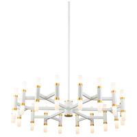 Kuzco Lighting CH19733-WH Draven 33 inch White Chandelier Ceiling Light
