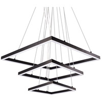 Piazza LED 43 inch Black Chandelier Ceiling Light