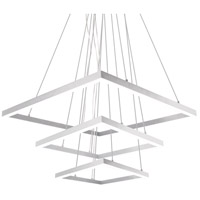 Piazza LED 43 inch White Chandelier Ceiling Light