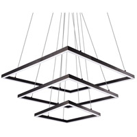 Piazza LED 55 inch Black Chandelier Ceiling Light