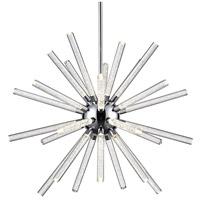 Kuzco Lighting CH71832-CH Astro LED 32 inch Chrome Chandelier Ceiling Light