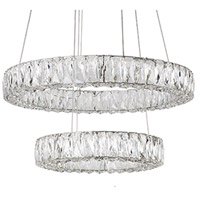 Solaris LED 24 inch Chrome Chandelier Ceiling Light