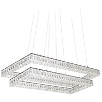 Solaris LED 19 inch Chrome Chandelier Ceiling Light