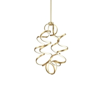 Kuzco Lighting CH93934-AN Synergy 24 inch Antique Brass Chandelier Ceiling Light