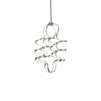 Kuzco Lighting CH93934-AS Synergy 24 inch Antique Silver Chandelier Ceiling Light photo thumbnail