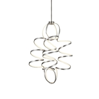 Kuzco Lighting CH93941-AS Synergy 32 inch Antique Silver Chandelier Ceiling Light