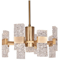 Oslo LED 22 inch Brushed Gold Chandelier Ceiling Light