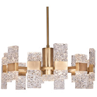 Oslo LED 28 inch Brushed Gold Chandelier Ceiling Light