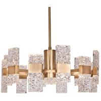 Kuzco Lighting CH9528-GB Oslo LED 28 inch Brushed Gold Chandelier Ceiling Light