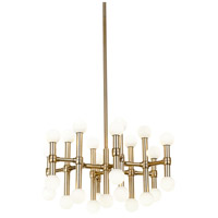 Kuzco Lighting CH96121-VB Rivoli 24 inch Vintage Brass Chandelier Ceiling Light
