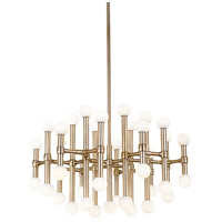 Kuzco Lighting CH96128-VB Rivoli 29 inch Vintage Brass Chandelier Ceiling Light