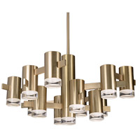 Kuzco Lighting CH9730-VB Sienna LED 30 inch Vintage Brass Chandelier Ceiling Light