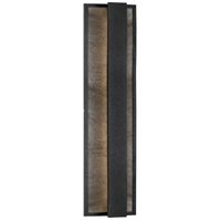 Caspian LED 24 inch Black Outdoor Wall Sconce
