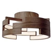 Kuzco Lighting FM12716-WT Anello LED 16 inch Walnut Flush Mount Ceiling Light