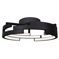 Kuzco Lighting FM12722-BK Anello LED 22 inch Black Flush Mount Ceiling Light