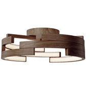 Kuzco Lighting FM12722-WT Anello LED 22 inch Walnut Flush Mount Ceiling Light