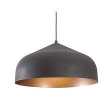 Kuzco Lighting PD9117-GH/CP Helena LED 17 inch Graphite with Copper Pendant Ceiling Light
