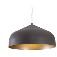 Kuzco Lighting PD9117-GH/GD Helena LED 17 inch Graphite with Gold Pendant Ceiling Light