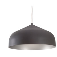 Kuzco Lighting PD9117-GH/SV Helena LED 17 inch Graphite with Silver Pendant Ceiling Light