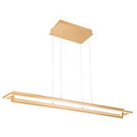 Kuzco Lighting LP16140-SG Mondrian LED 40 inch Soft Gold Linear Pendant Ceiling Light