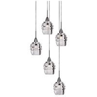 Kuzco Lighting MP52105-CH Honeycomb LED 14 inch Chrome Pendant Ceiling Light