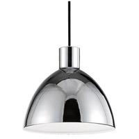 Kuzco Lighting PD1709-CH Chroma LED 9 inch Chrome Pendant Ceiling Light