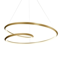 Kuzco Lighting PD22339-VB Ampersand 39 inch Vintage Brass Pendant Ceiling Light