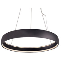 Kuzco Lighting PD22735-BK Halo LED 35 inch Black Pendant Ceiling Light