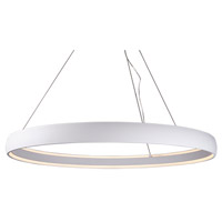 Kuzco Lighting PD22753-WH Halo LED 53 inch White Pendant Ceiling Light