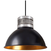 Kuzco Lighting PD2612-BK Herman LED 12 inch Black Pendant Ceiling Light