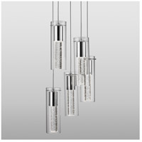 Kuzco Lighting PD4405-CH Champagne LED 14 inch Chrome Pendant Ceiling Light